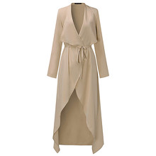 Plus Size S-3XL Women Ladies Casual Long Sleeve Slim Fit Thin Waterfall  Long Belted Cardigan Duster Coat Jacket Overalls Outwear bcd720c49482