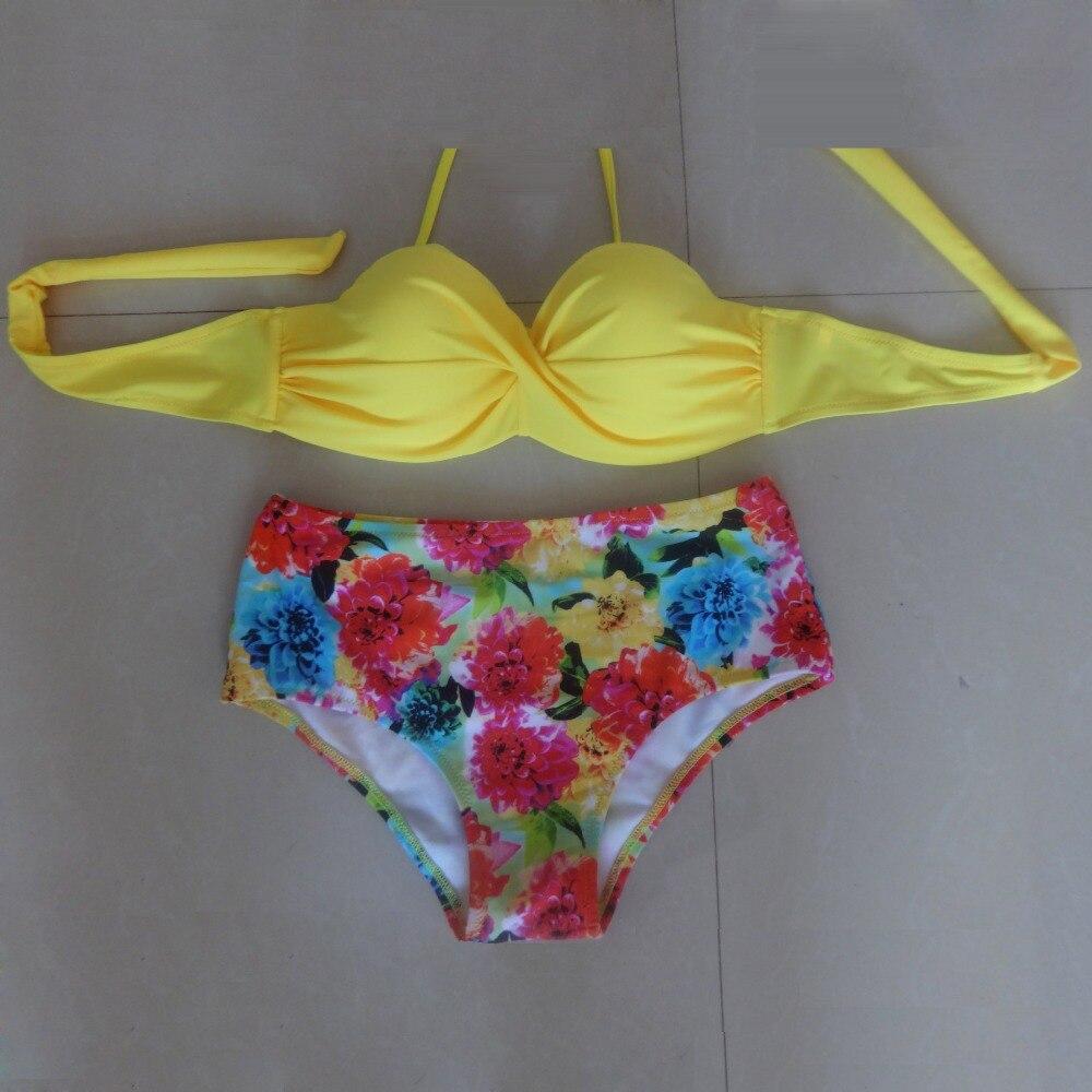 2017 Push Up Women Bikini Set Swimwear Bathing Suit Plus Size High Waist Swimsuit Biquini Maillot De Bain<br><br>Aliexpress