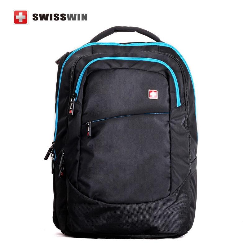 Swiss Brand Business Travel Waterproof Laptop Backpack 17.3  High Quality Outdoor Leisure Sports Bag Escolar Mochila SWD0005<br><br>Aliexpress