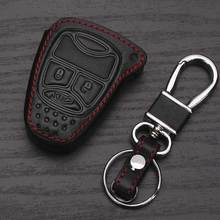 Leather Key Holder For Jeep Grand Cherokee Compass Patriot Dodge Journey Chrysler 300C Leather Wallet Keychain For Jeep Key Case