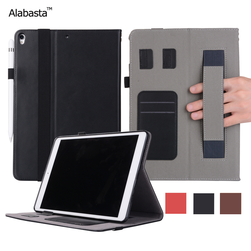 Alabasta For iPad 2017 case 9.7 inch 2017 Release Genuine Leather Surface +Silicone Cover Flip Stand Safe Stand Case With stylus<br>