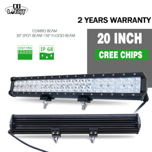 4wd Light Bar 20 Inch Led Strip 126W CREE Chip Off Road Accessories for Jeep UAZ Lada Niva 4x4(China)