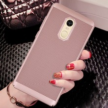 For Xiaomi Redmi Note 4X (5.5inch) Mesh Net Grid Hollow Out Dot Ventilating Matte PC Hard Back Cover Case
