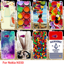 Soft TPU Cases For Microsoft Nokia Lumia 550 N550 4.7 inch Colorful Painted Hard Cell Phone Cover Housings Bags Sheath Skin Hood