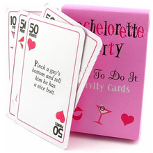 12sets/lot Wedding Party Gift of Bachelorette Dare to Do It Card Game includes a deck of dares Wedding favors Free shipping