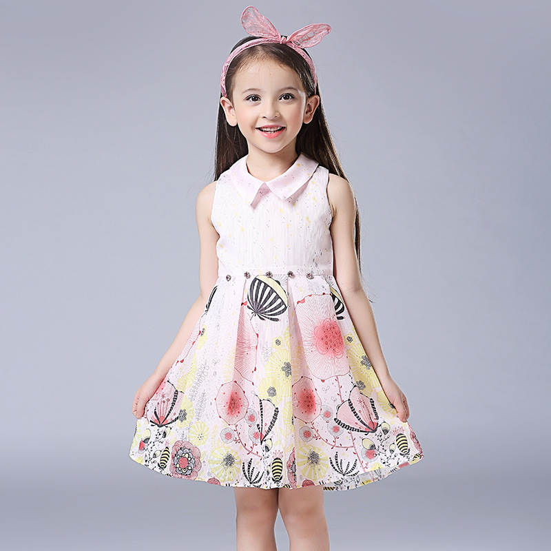 Children Girls Dress New Design 2017 Summer Fashion Sleeveless Kids Dress Casual Cotton A-Line Brand Vestido Infantis Clothes<br><br>Aliexpress