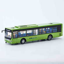 Green 1:43 Yutong E12 Rectrl Hybrid Electric City Bus High Simulation Alloy Toy Bus Models Passenger Station Wagon Diecast