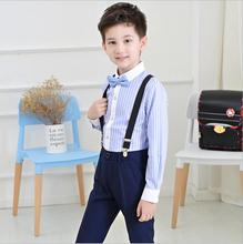 Boys Suits for Weddings Stripe Blazers England Style Formal Kids Prom Suit Baby Sets Party Costume 4pcs Tuxedo Child Clothing