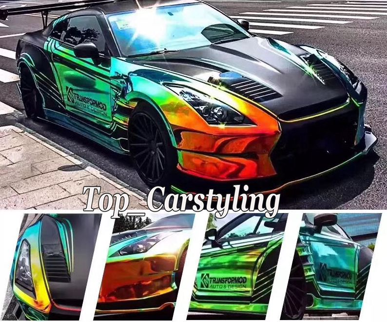 rainbow chrome holographic car wrapping film (2)