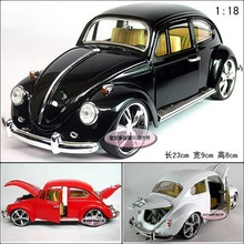 Candice guo! Hot sale classical alloy model car 1:18 beetle bubble car birthday gift 1pc(China)