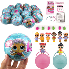 HF 9.5CM 7 Layers LOL Surprise Doll Series Magic Funny Unpacking Removable Egg Balls Action Figure Girl Novelty Toy For Children(China)