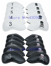 High Quality 10pc/Set Golf Skull Iron Head Covers PU Headcover For Golf XHOT CB JPX Iron Sets Wedge Cover