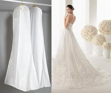 Length 180cm Wedding Dress Bag Clothes Cover Non-woven Dust Cover Garment Bags Bridal Gown Bags For Mermaid Wedding Dress Cover