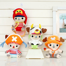 4pcs/lot 20cm Anime One Piece Tony Tony Chopper Cosplay Plush Toys Doll Soft Stuffed Toys for Kids Children Christmas Gifts(China)