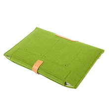 "New Woolen Felt Envelope Bag Cover Pouch Sleeve Case For MacBook Air 11"" Green"