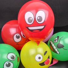 12inch Baby Shower smiley face latex balloons children's toys wedding decor supplies ceremony marriage ornaments Favors Gifts