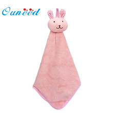 My House Kitchen Cartoon Animal Hanging Cloth Soft Plush Dishcloths Hand Towel 2017 New Hot Sell 17Mar3