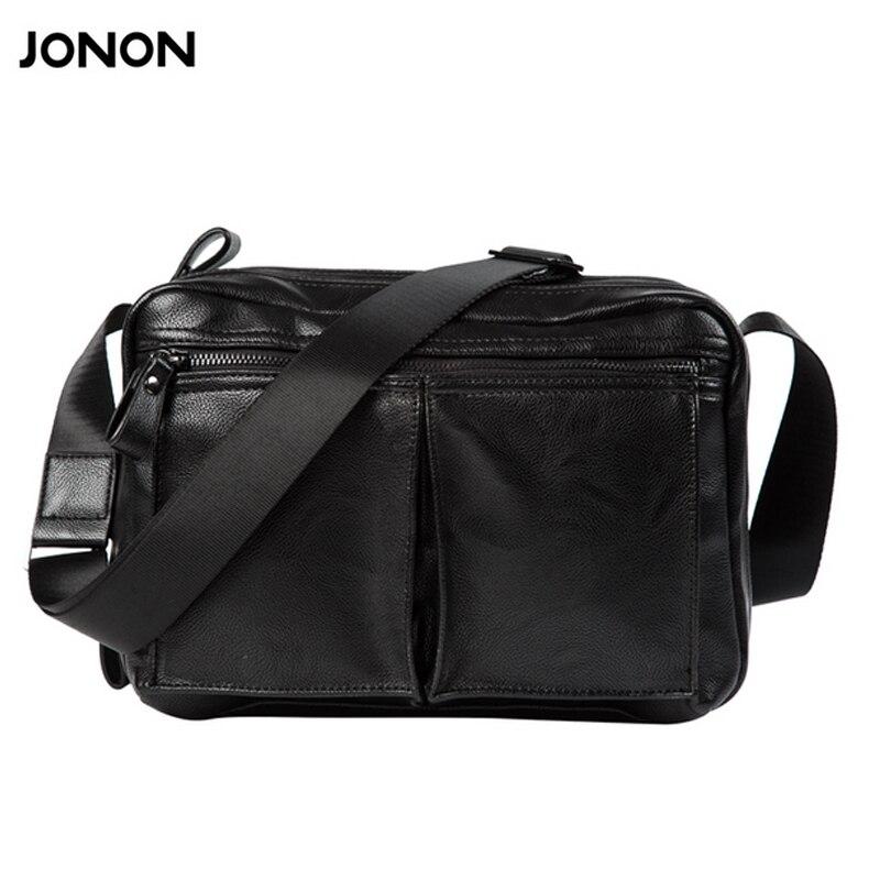 Jonon Men Bag Fashion Mens Messenger Bags Multi pocket Male flap pu Leather bag Crossbody shoulder bags Handbags <br>