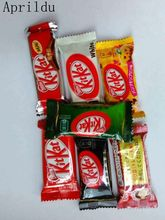 5tiny bag Weight 16g.Mixed Japanese Kit Kat Chocolate.apple pie,pumpkin,black chocolate,milk,green tea,cheese kitchen toy
