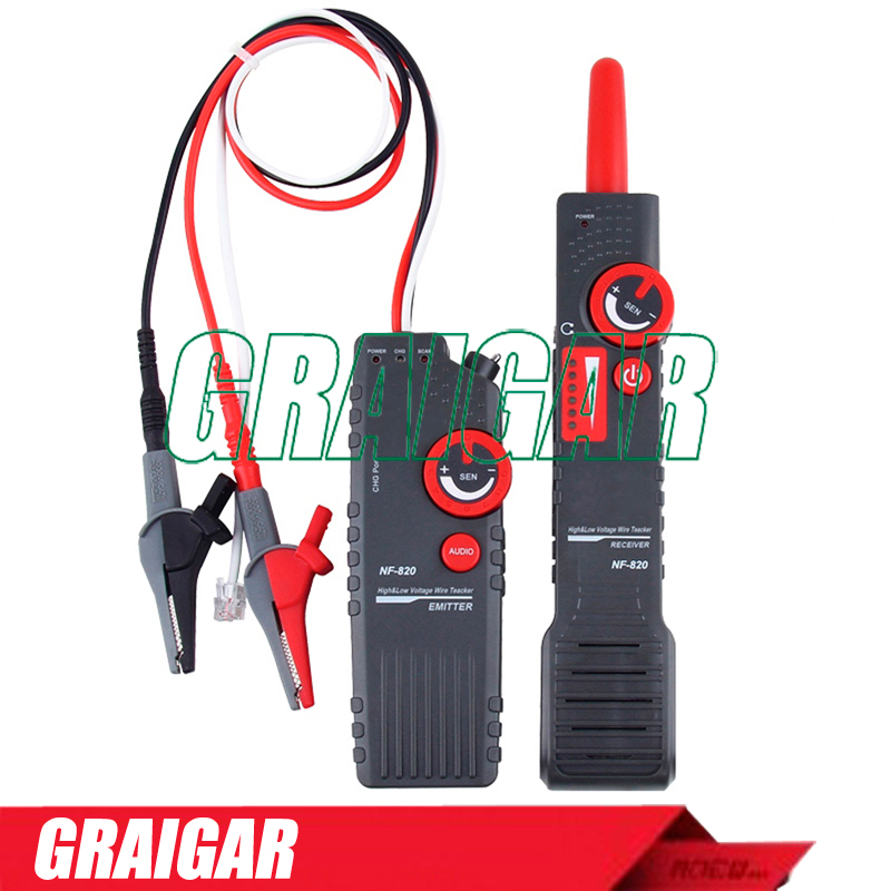 High &amp; Low Voltage Wire Tracker NF-820 Underground Cable Finder Anti-Interference Wire Tracker RJ45 RJ11 BNC Tester<br><br>Aliexpress