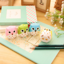 1 PCS Kawaii Owl Pencil Sharpener Novelty Pen Cutter Knife Promotional Gift Stationery(China)