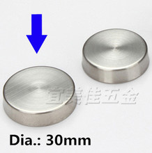 4pcs 30mm Stainless steel decoration mirror nail satin finish thickened