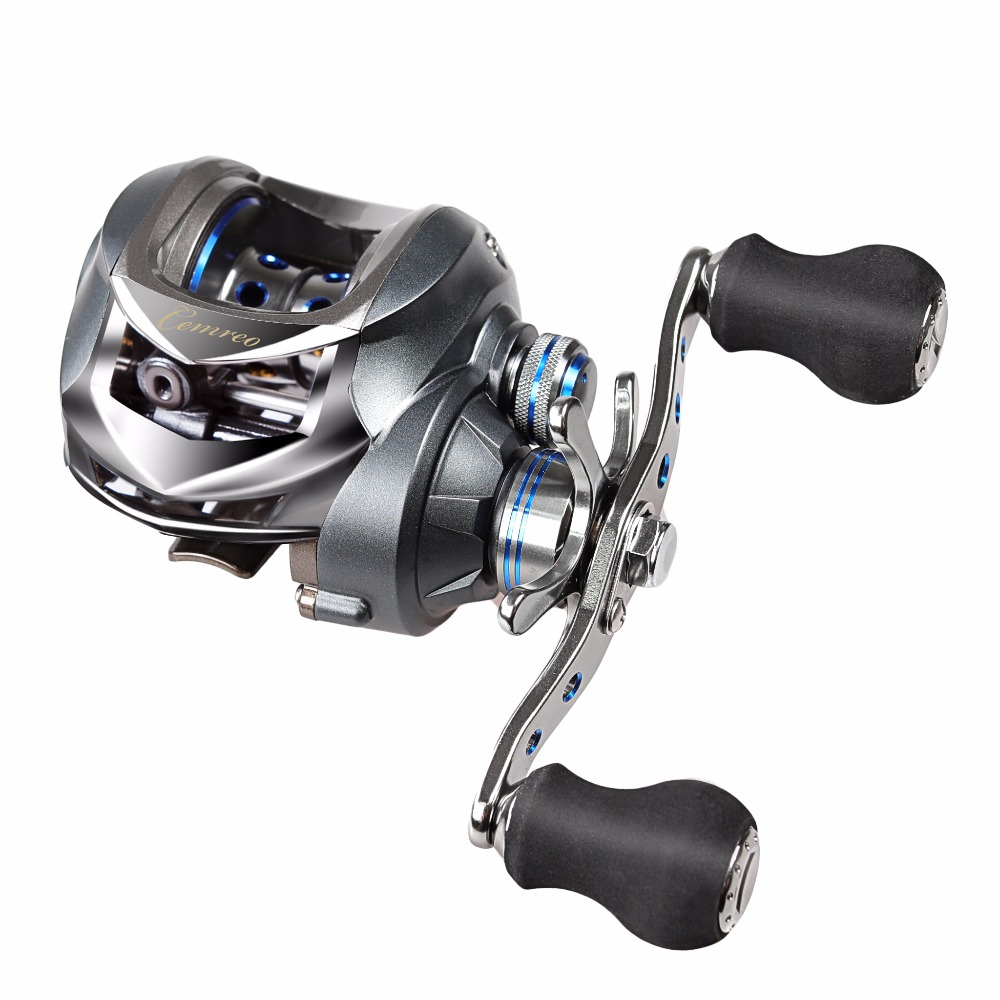 17+1BB Baitcasting Fishing Reel 7.0:1 Bait Casting Reels Left / Right Hand Reel with One Way Clutch Fish Pesca Reel Max Drag 5kg<br>