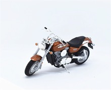 1:18 Welly Kawasaki 2002 VULCAN 1500 MEAN STREAK Motorcycle Bike Model New in Box Brown