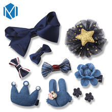 M MISM 10 pcs/lot Cute Style Princess Hair Clips Girls BB Hair Accessories Cartoon Shiny Barrettes Hair Bands Flowers Hairpins