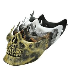 1PCS Costume Halloween Airsoft Skull Motorcycle Skull Skeleton Airsoft Hunting Biker Ski Half Face Protect Gear Mask Guard