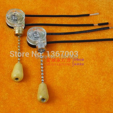1PCS High Quality Universal Ceiling Fan Lamp Wall Light Replacement Retro Pull Chain Cord Switch 3A/250V 6A/125V