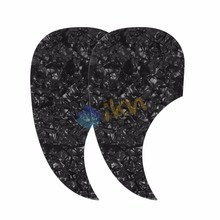 NEW 2PCS Celluloid Acoustic Guitar Pickguard Pick Guard Sticker Self-Adhesive Plate ,Black Pearl