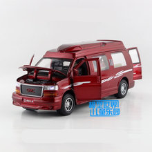 Free Shipping/Diecast Toy Model/1:32 Scale/GMC Luxury Business Travel Van/Pull Back/Sound & Light/Educational Collection/Gift(China)