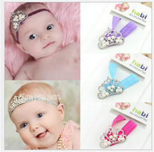 The New Crown Jewel Baby Hair Band Soft Cotton Stretch Children Headband Baby Hair Accessories