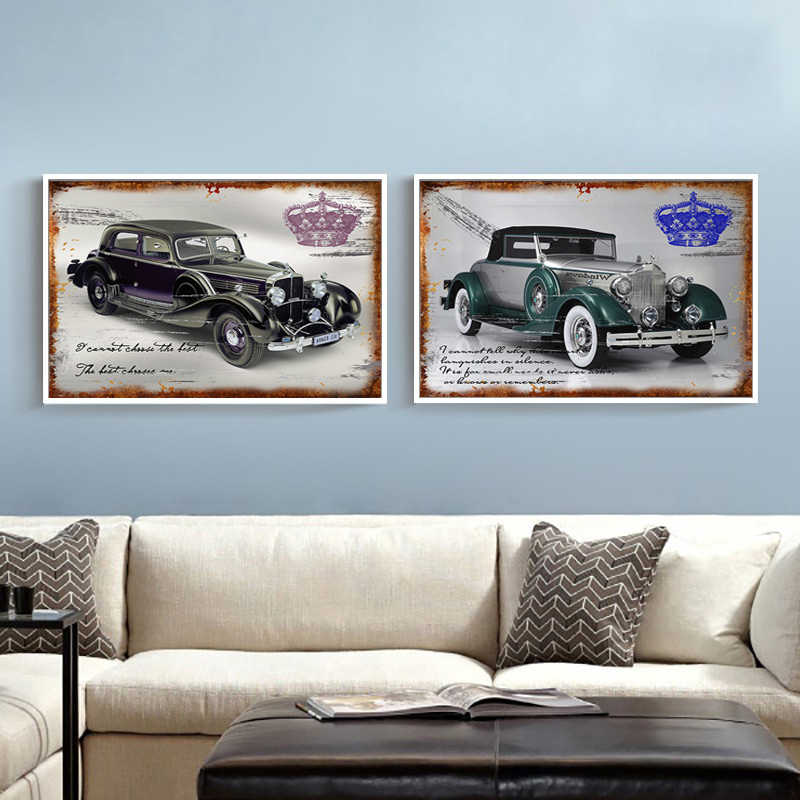 Detail Feedback Questions about 2 Piece Classic Cars Wall ...