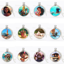 Princess Moana Necklace Key Ring Pendant Anime Figures Action & Toy Moana
