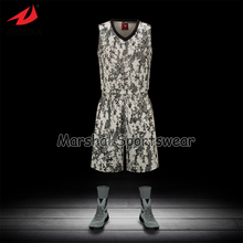 Moq 5 sets Latest sublimation customized basketball jersey,accept small quantity,top quality camouflage style