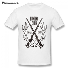 The Branches And Guns Composed Of Hunter Club Logo Shirt Men Home Wear T-Shirts Man Short Sleeve Cotton S-3XL T-Shirts MTWQ089