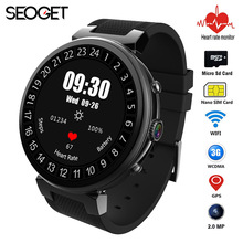 Smart watch Android 5.1 MTK6580 2G/16GB 2MP Camera Heart Rate Monitor smartwatch Wifi 3G SIM card GPS Smart watch phone for men(China)