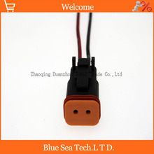 Sample,5 PCS Deutsch DT06-2S 2Pin Engine/Gearbox waterproof electrical connector with cable for car,bus,motor,truck etc.