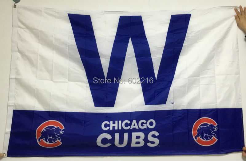 NEW 2016 Baseball Chicago Cubs W throwback Flag 3ft x 5ft USA Flag(China (Mainland))