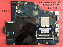 Free shipping NEW LA-5754P motherboard for Lenovo G565 Z565 Laptop motherboard Z565 motherboard ( with HDMI port ) 100% tested