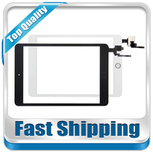 New For iPad Mini 3 A1599 A1600 A1601 Replacement Touch Screen Home Button+Sticker With Camera Holder Black White Free Shipping(China)