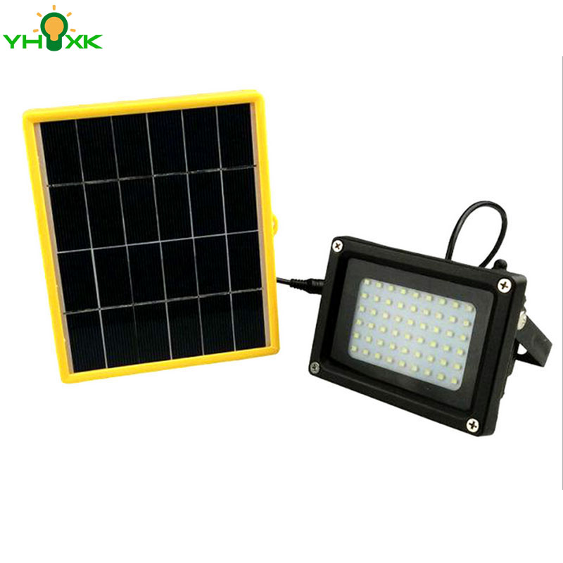 54 PCS LED and Lithium Battery Floodlight Outdoor Lighting for Garden Billboard Construction Site Street Garage Flood Light Lamp<br>