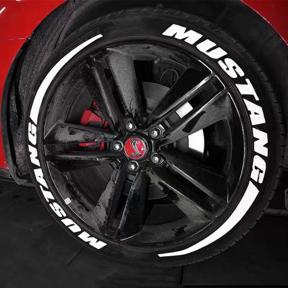 Car Tire Stickers Tyre Lettering Stickers Car Universal 3D Tire Decals Wheel Stickers Kits Car Tire Personalized Styling Wheel Label Personalized