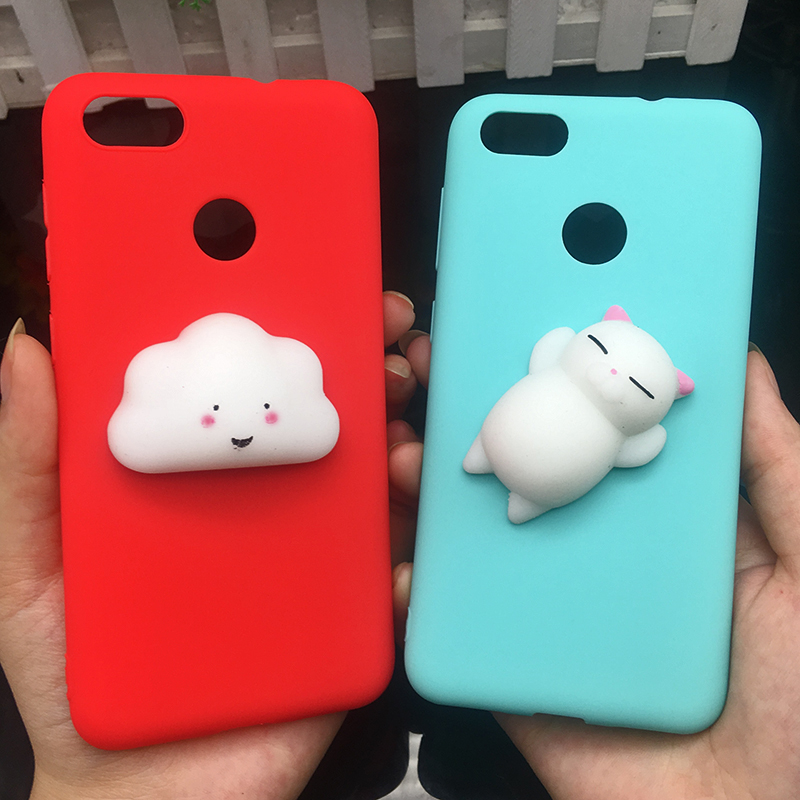 3d Squishy Cat Silicon TPU Soft Cases For Huawei P20 lite P20 pro P9 lite mini 2017 Candy Color Back Cover Honor 8 lite P10 plus (18)