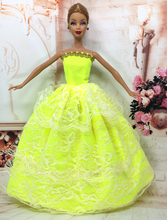 NK One Pcs 2018 Princess Wedding Dress Noble Party Gown For Barbie Doll Fashion Design Outfit Best Gift For Girl' Doll 036A(China)