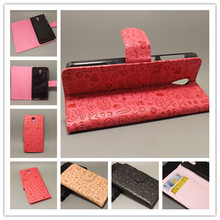 Magic Girl stand Leather Case with 2 Card Holder and pouch slot For HTC Desire 620 620G Desire 820 Minifree shipping