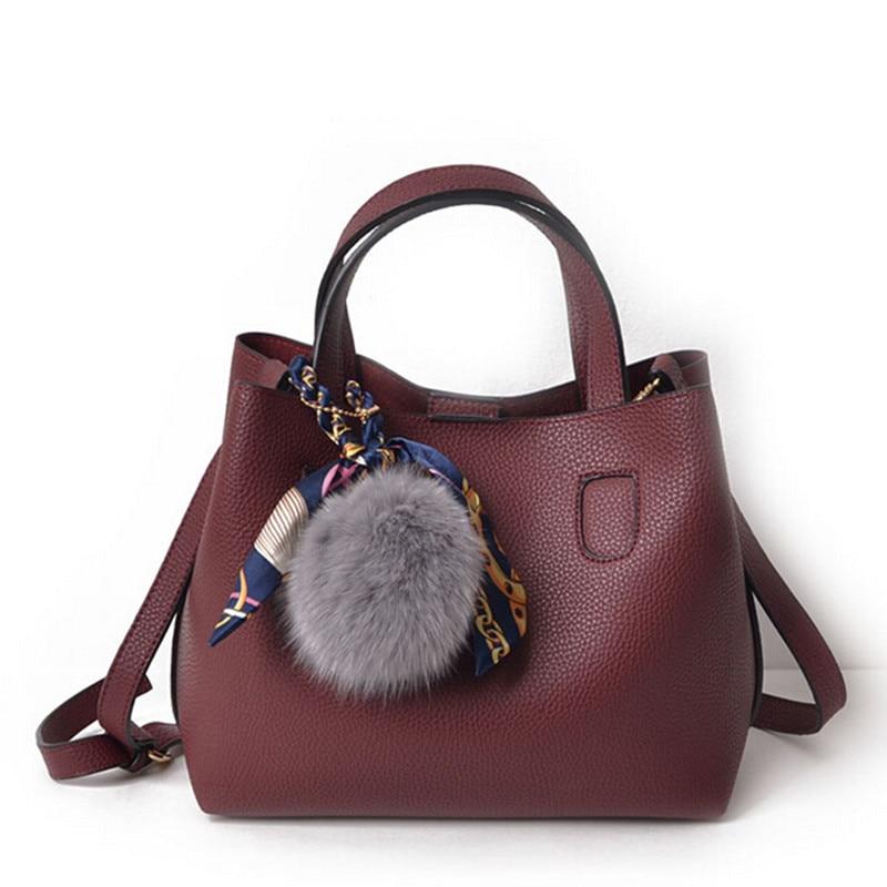 New Women Leather Handbags Composite Bag Large Shoulder Bags Crossbody Bags Ladies Designer Tote Bags Black Bolsa Feminina<br><br>Aliexpress