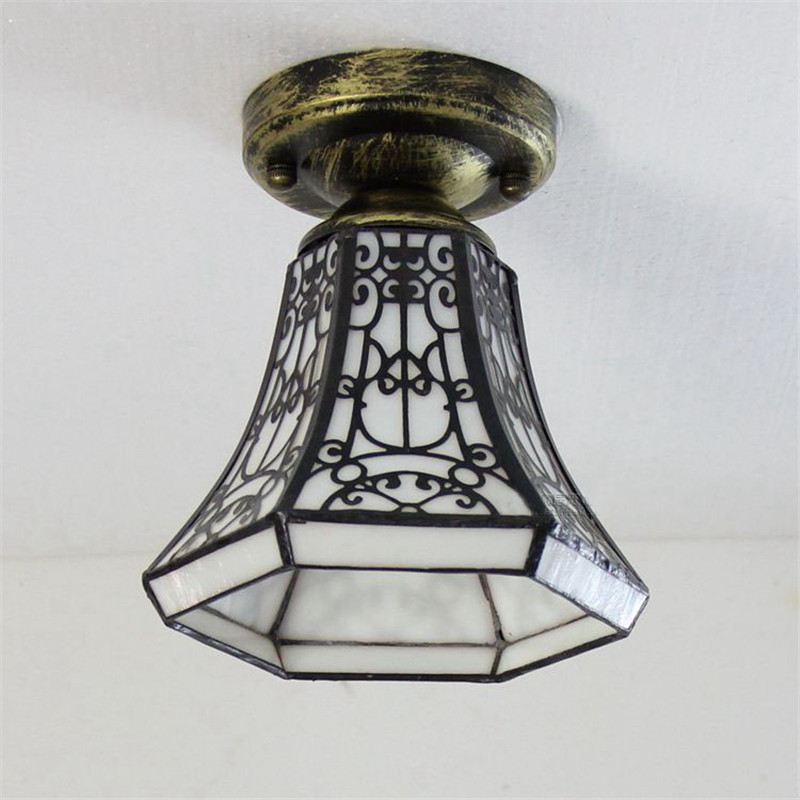 Tiffany Stained Glass Ceiling lights modern  style bedroom living room Corridor lamp DIA 15 CM H15 CM<br><br>Aliexpress